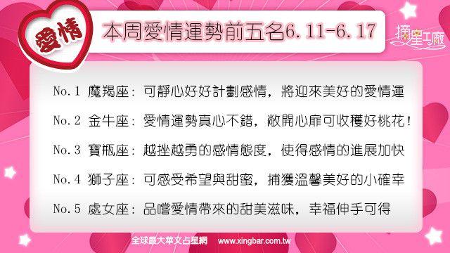 12星座本周愛情吉日吉時(6.11-6.17)