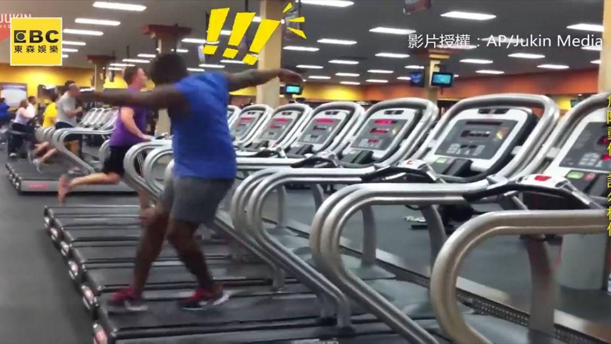 跑步機也能這樣玩?男子跑出新高度讓網友驚呆