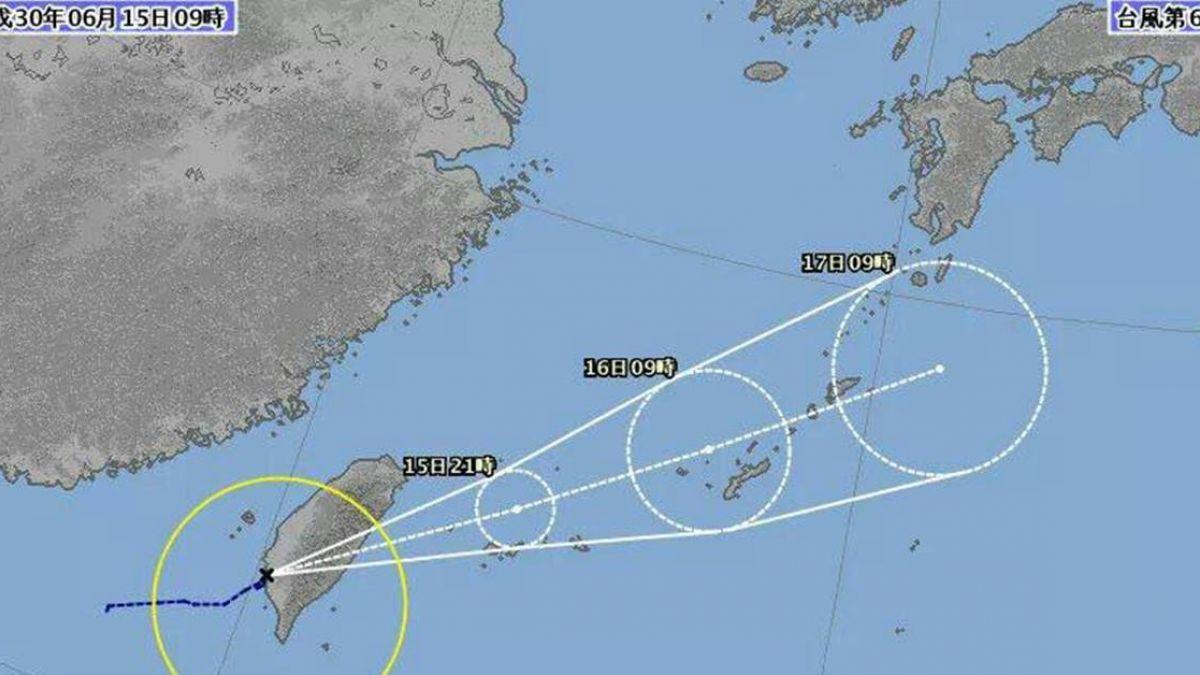 台日不同調!日發布6號颱凱米生成 蘭嶼下午晚上停班課