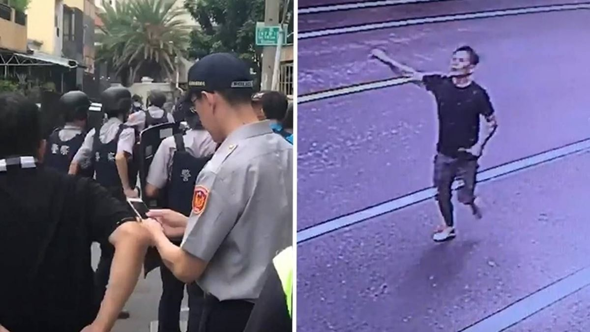 扭打畫面曝光!性侵通緝犯當街奪警槍「有11發子彈」逃逸中