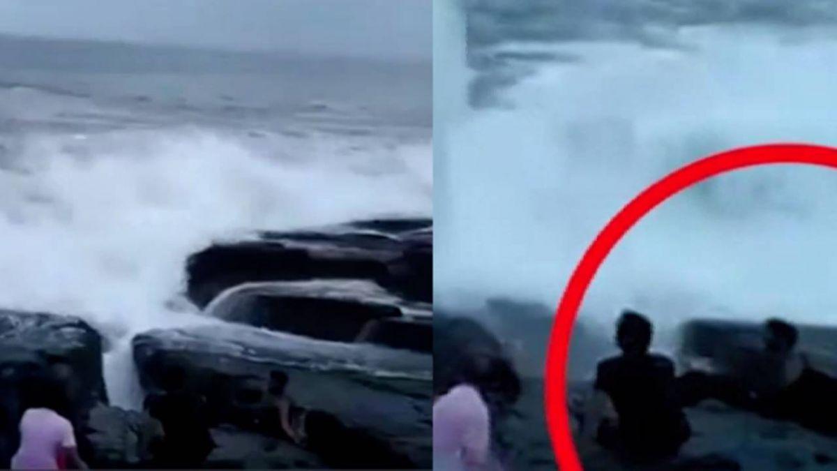 死亡實錄! 男子海邊自拍…大浪打來3人剩2人