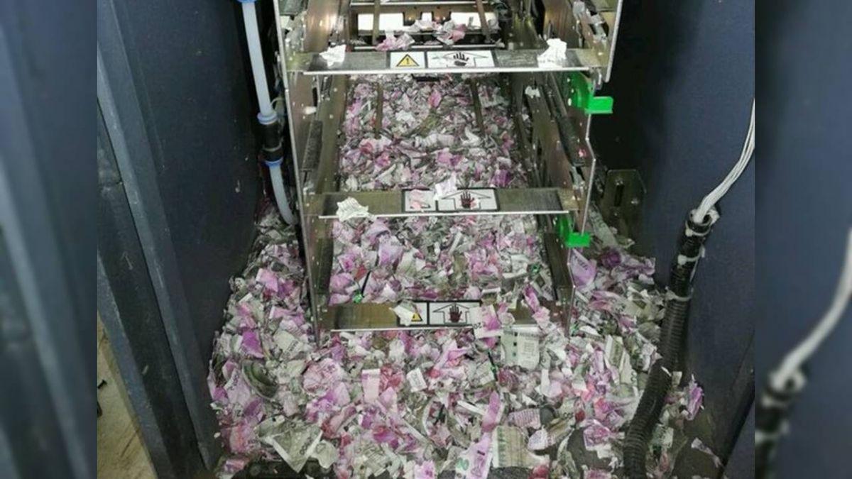 ATM故障12天!123萬鈔票全成紙屑 凶手竟然是牠