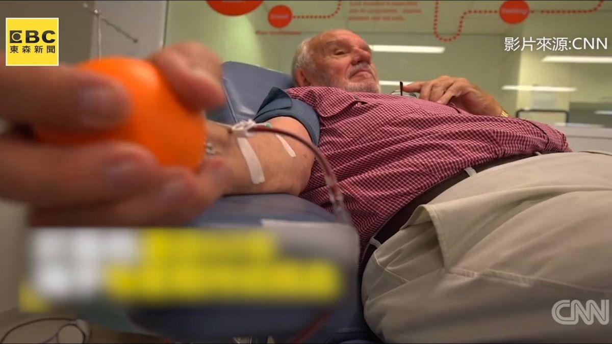 60年救240萬條命!血有罕見抗體 澳洲老翁捐血千次