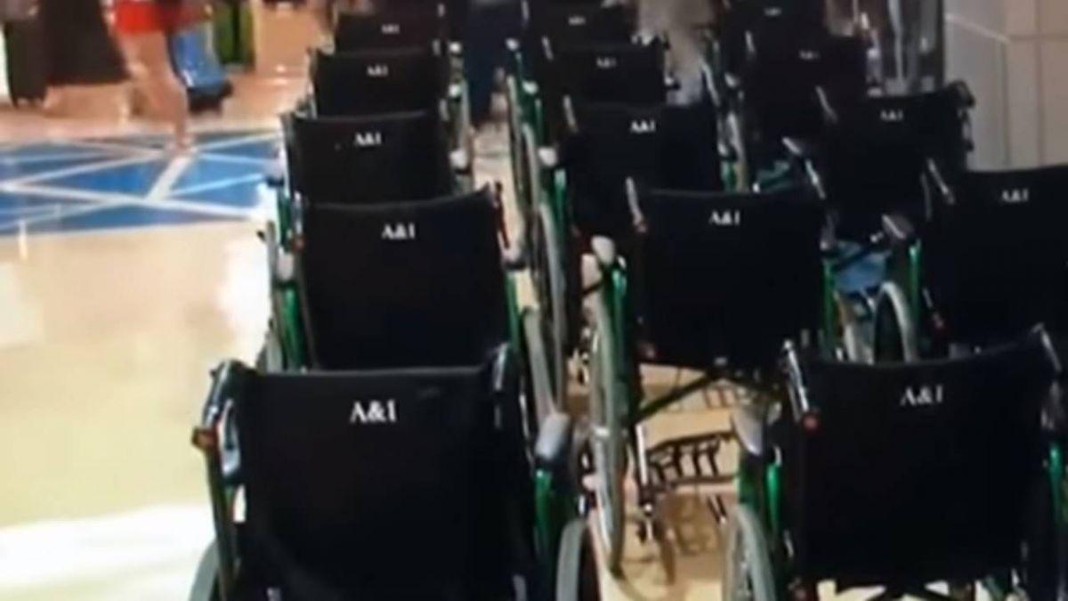 【獨家】桃機怪象 56部輪椅接送東南亞觀光客