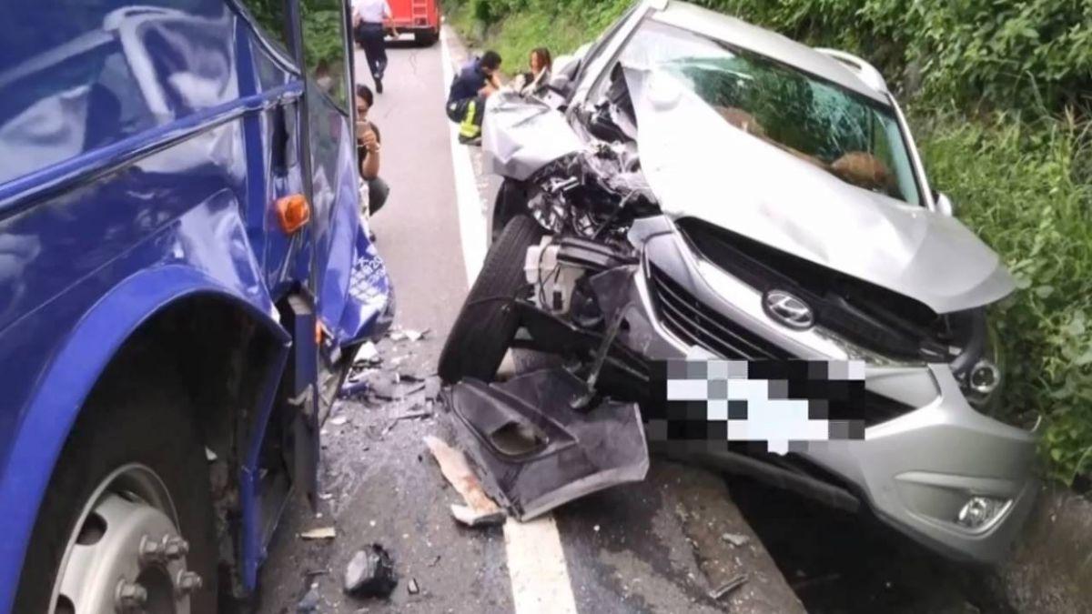阿里山公路碰撞車禍 8月女嬰母抱懷中受傷
