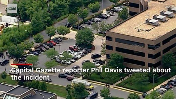 槍手馬里蘭州報社大開殺戒 長槍掃射至少5死3傷