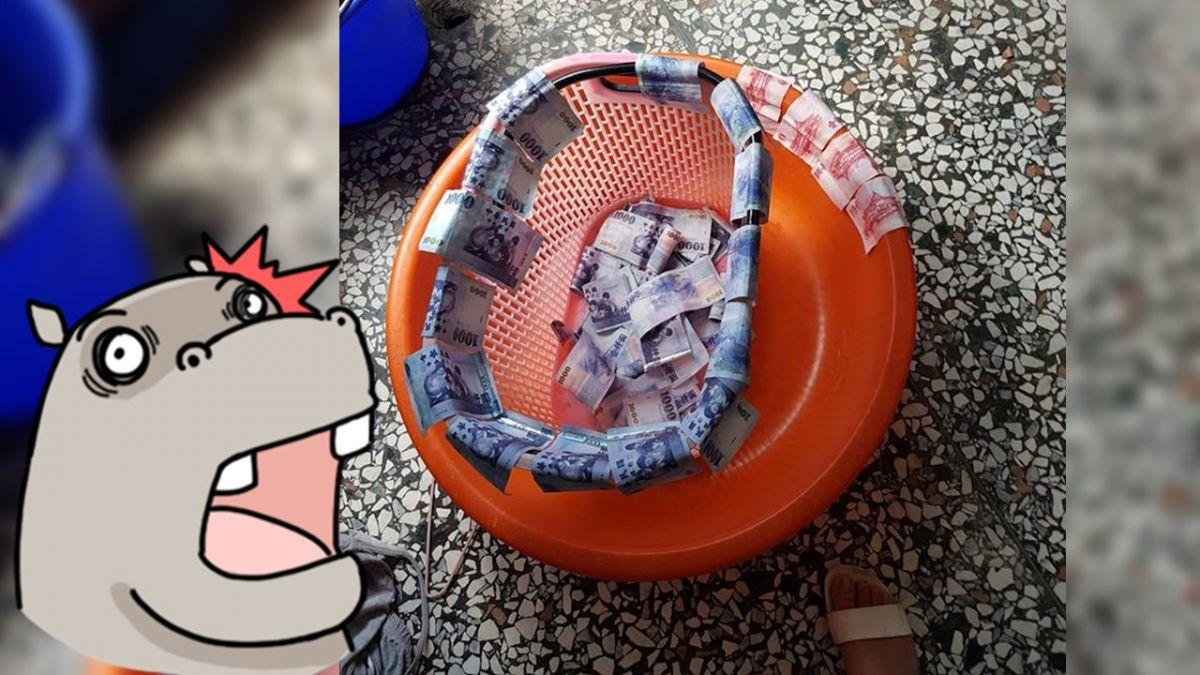 洗衣籃上曬3萬!她洗衣服見老公「偷洗錢」 網笑:全部充公