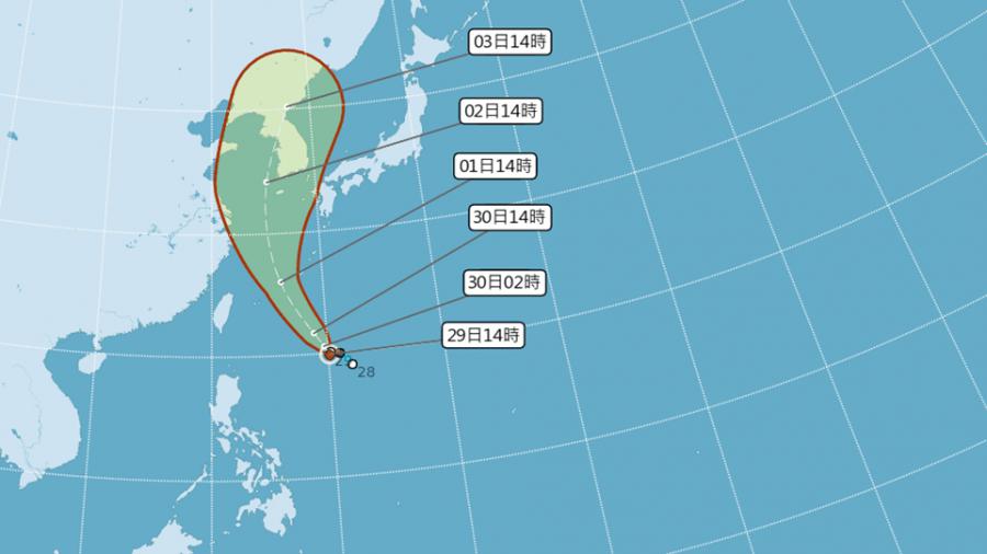7號輕颱巴比侖朝日韓去 台灣沿海小心長浪