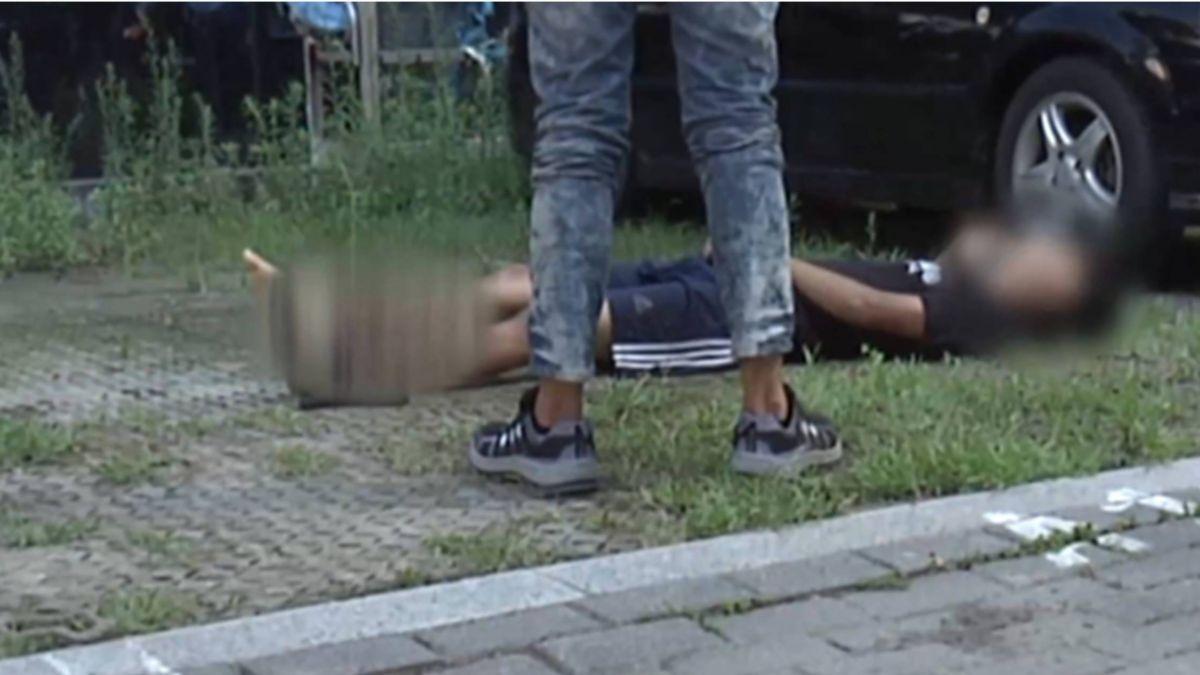中市議會玻璃維修意外 一工人小腿險斷