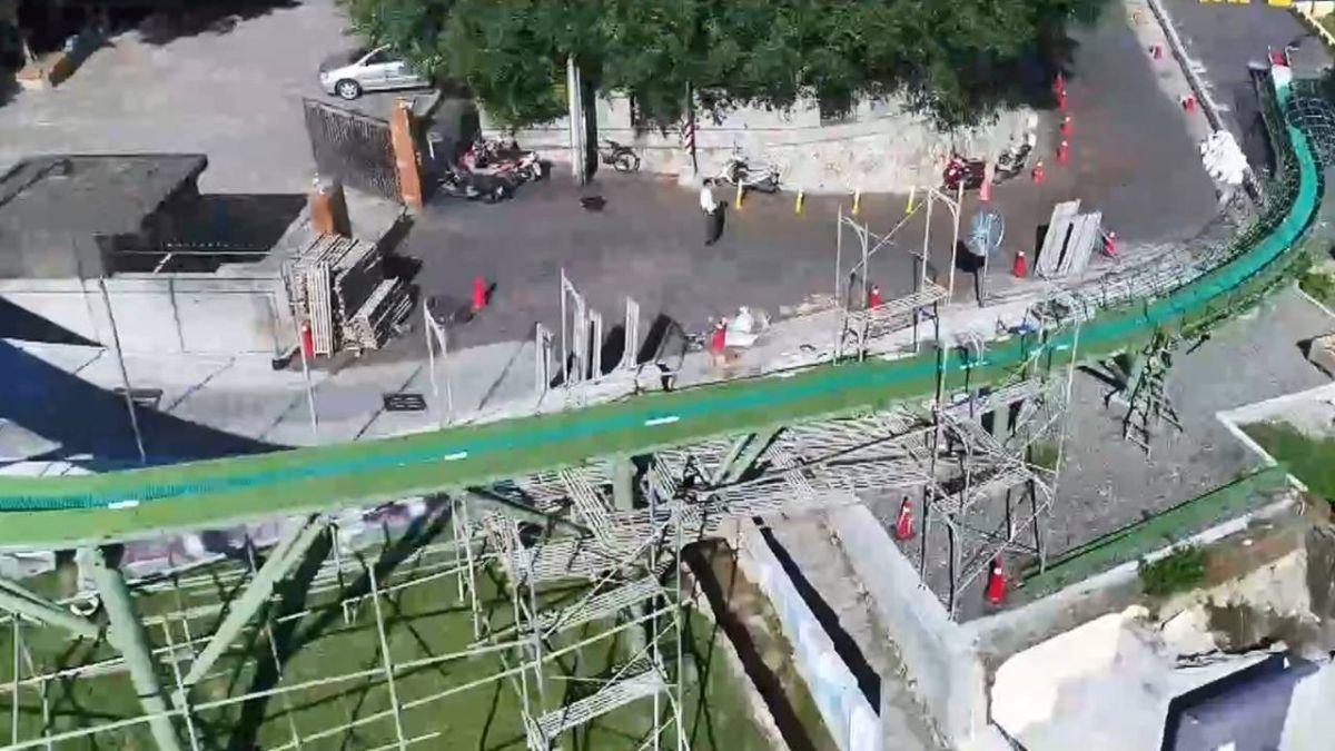 【獨家】新打卡點!79米全台最長滾輪溜滑梯 8月完工