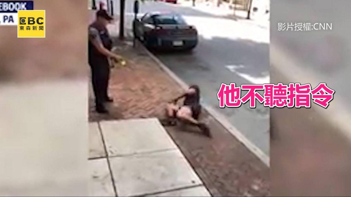 執法過當?美警向沒反抗 聽從指令的非裔男開電擊槍