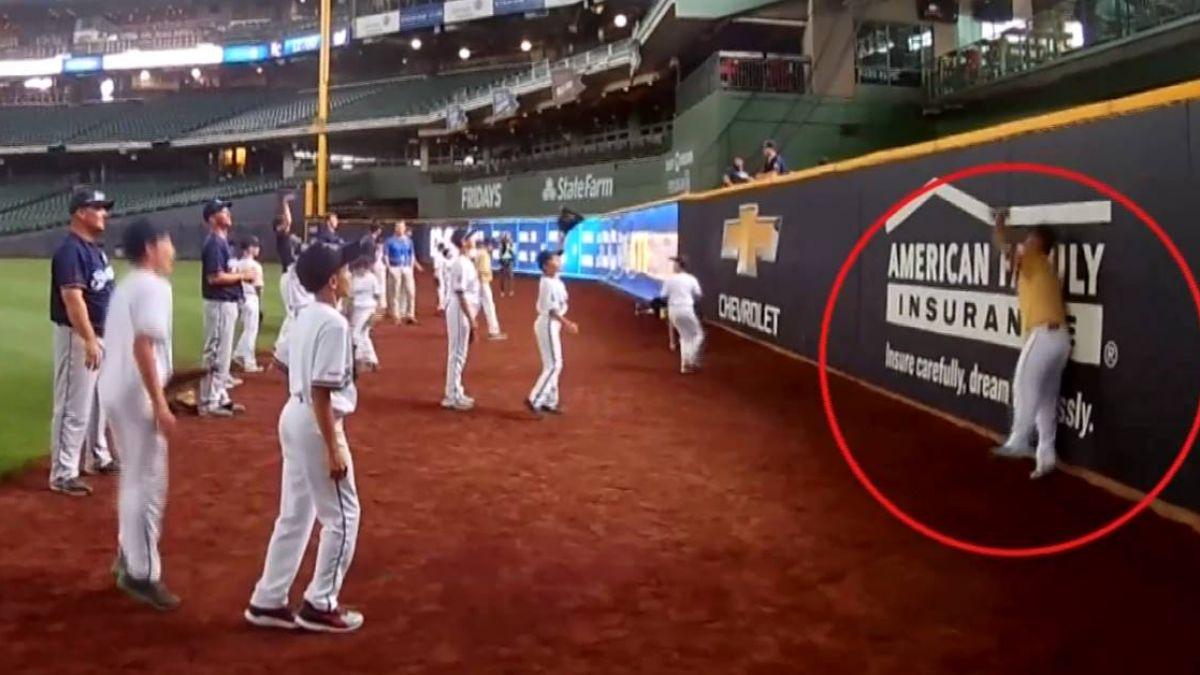 參加大聯盟棒球訓練營 布農族棒球小將第一人