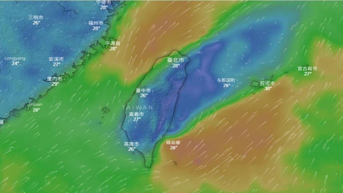 西南風影響 南台灣防豪雨北台灣炎熱