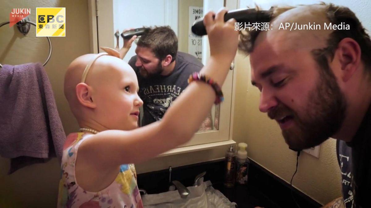 只因一句話!他為女兒剃光頭 暖心舉動惹哭網友