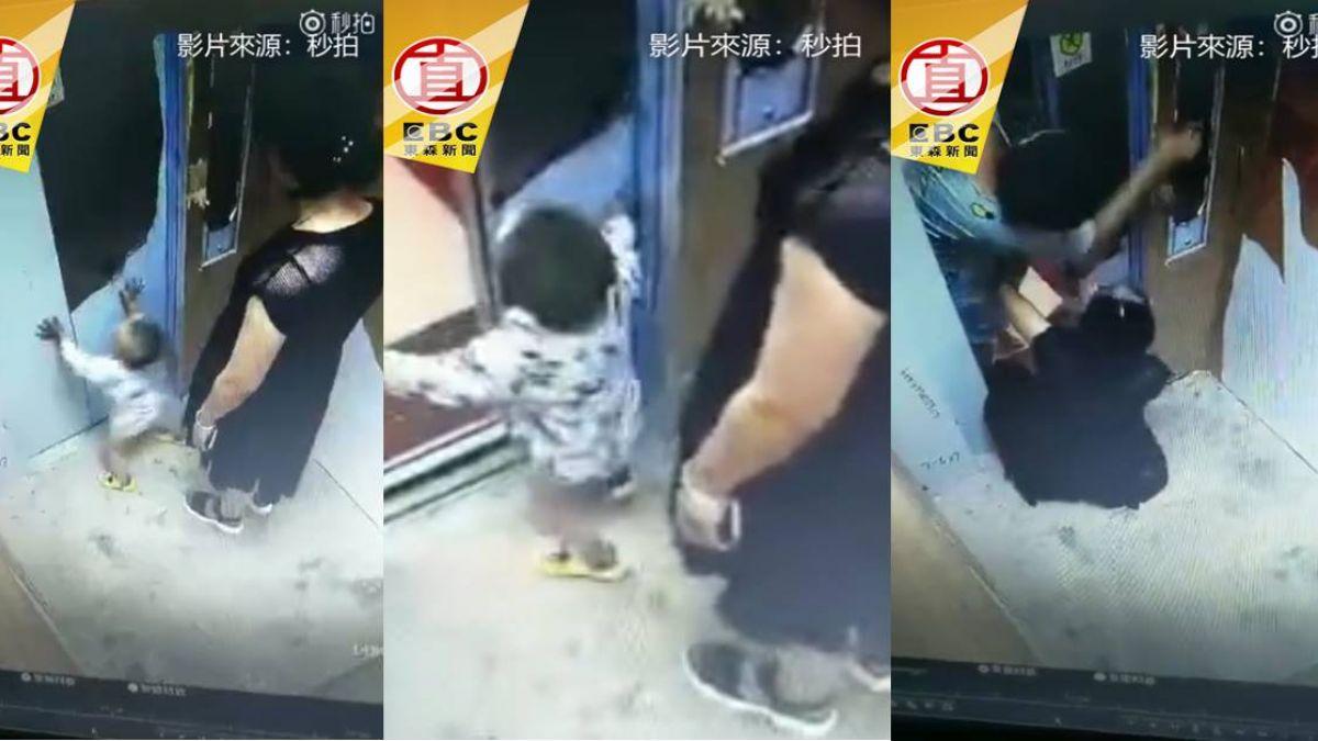 危險!放任孩子玩電梯 慘遭夾手網怒轟:活該