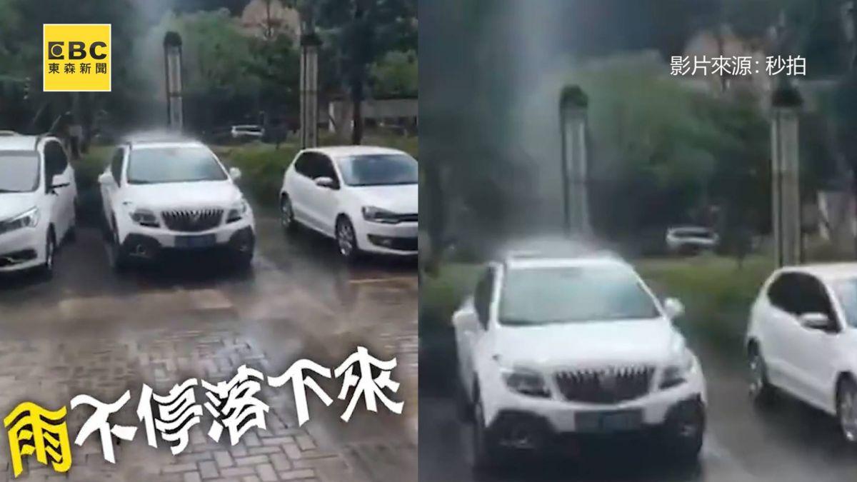有影嘸?雨只幫它洗車 網嘲:老天爺尿急