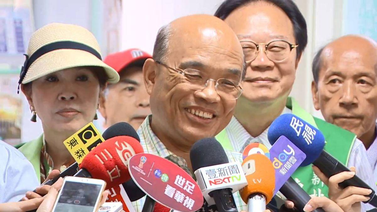 黃國昌表態挺選市長 蘇貞昌:感動還要更努力