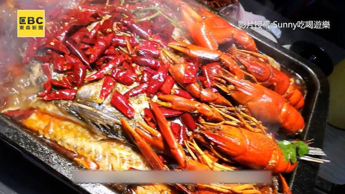 看球賽升級新吃法 10隻小龍蝦搭1.5公斤烤魚 超過癮