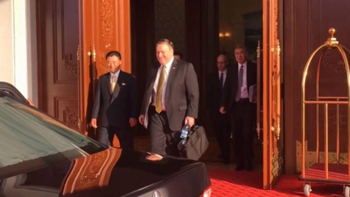 蓬佩奧訪北韓第2天  持續非核化談判