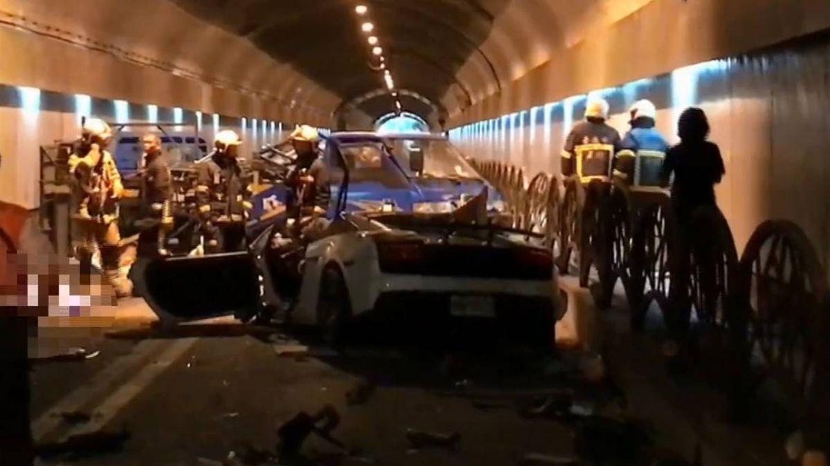 來不及叫!超跑隧道內飆速奪2命 驚悚瞬間曝光