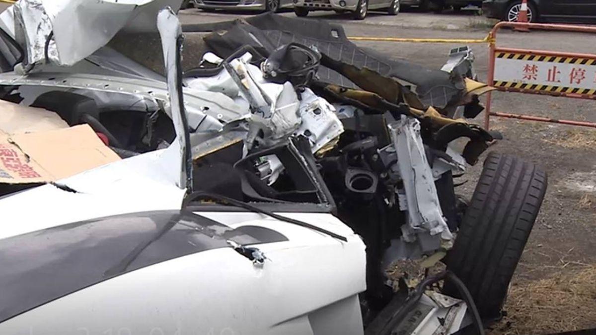 千萬超跑狂飆…失控撞成廢鐵 家屬質疑「車子有問題」