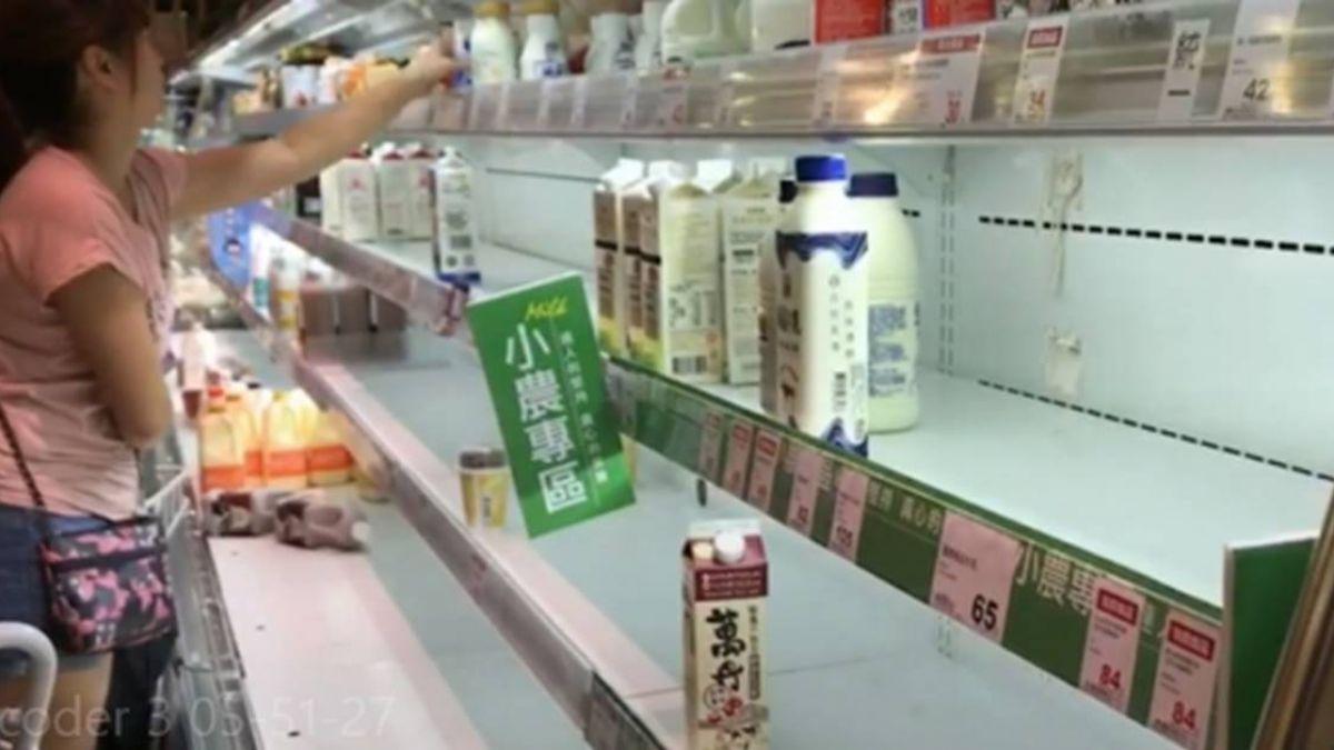 颱風將侵台 賣場蔬果、麵包、肉品被掃光
