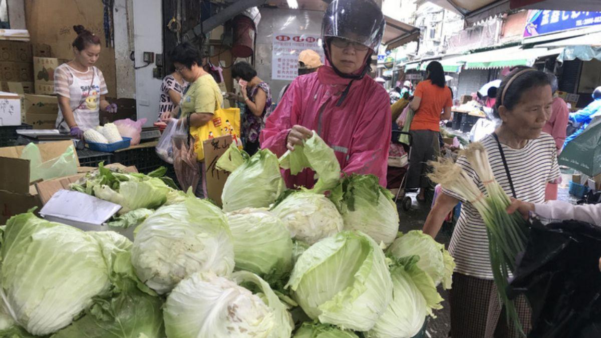 颱風瑪莉亞快閃 北市平均菜價跌