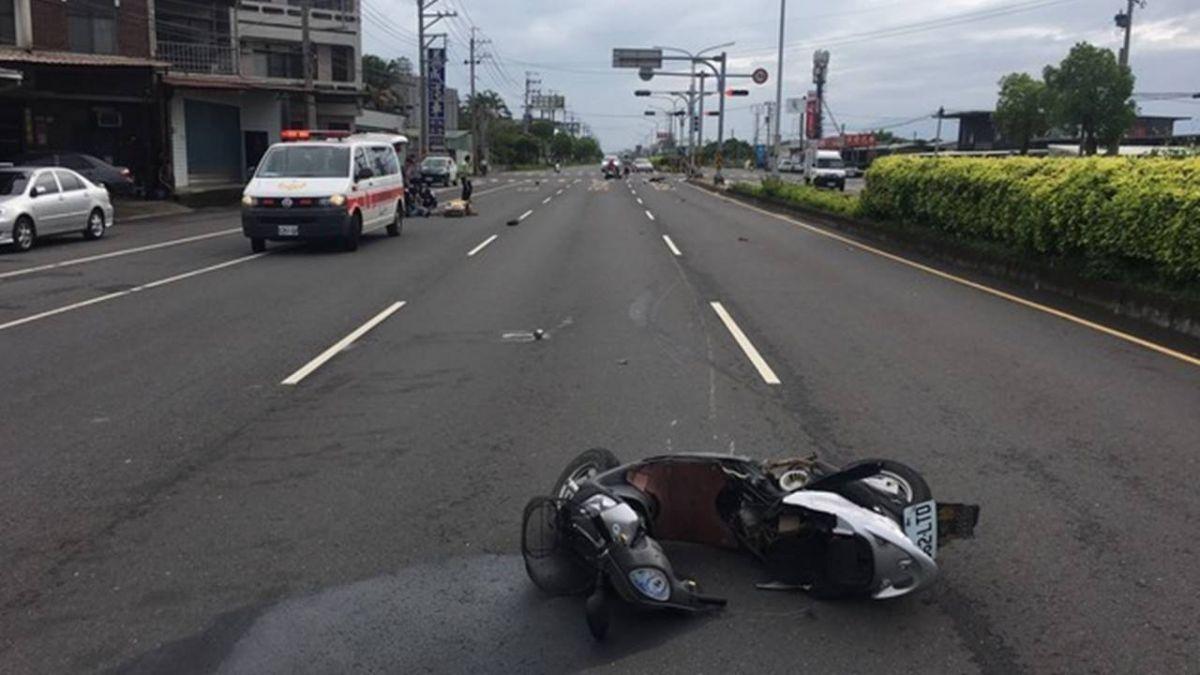 趕著要上班!騎士逆向橫跨車道 遭酒駕失速撞飛亡