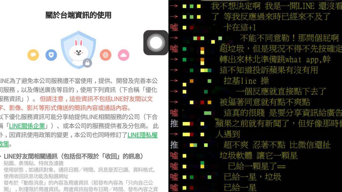 LINE隱私權政策更新!「不同意就無法用」網友譙翻
