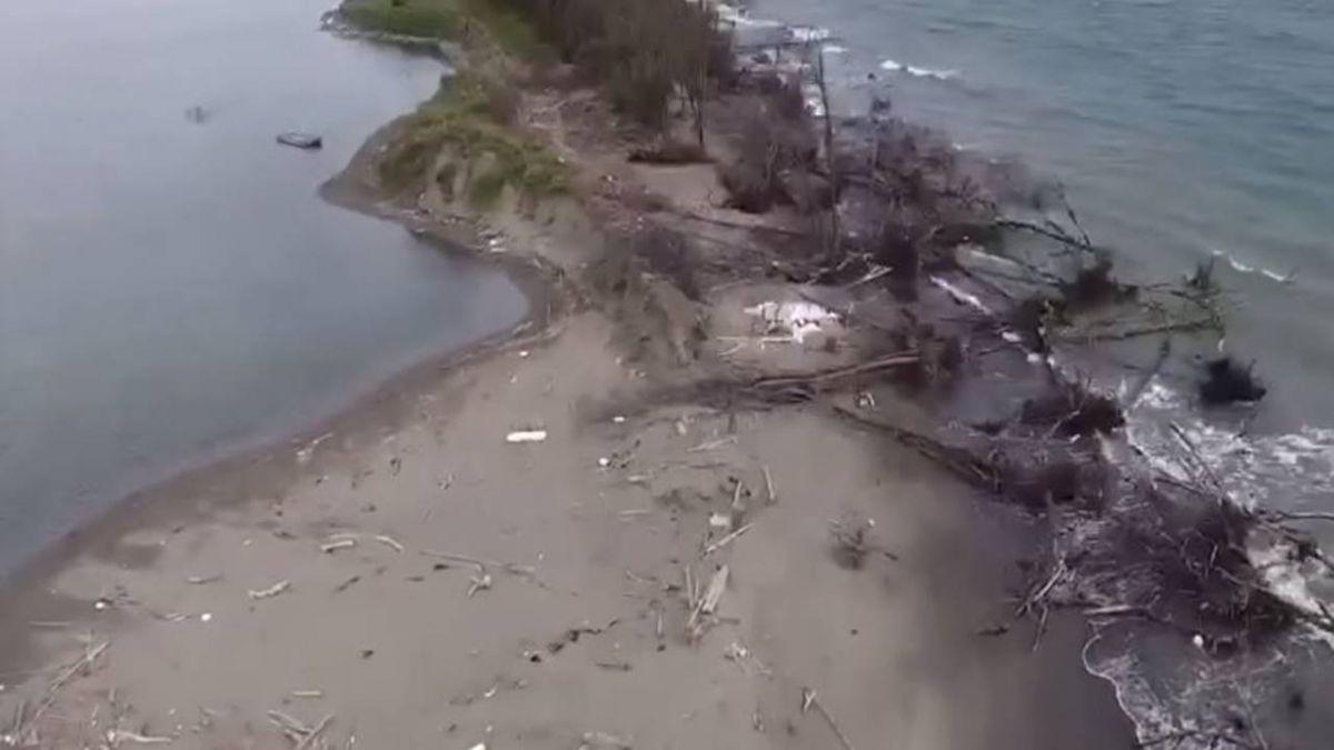 七股海岸5年退縮145公尺 少掉17座足球場土地