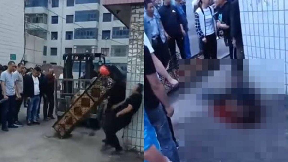 工地圍觀看熱鬧!拔起瞬間 男子被鐵柱爆頭亡