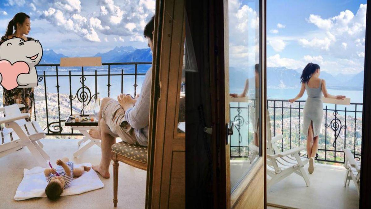 艾莉絲躲「法國世足亂」 瑞士享美景…北半球露深溝秒歪樓