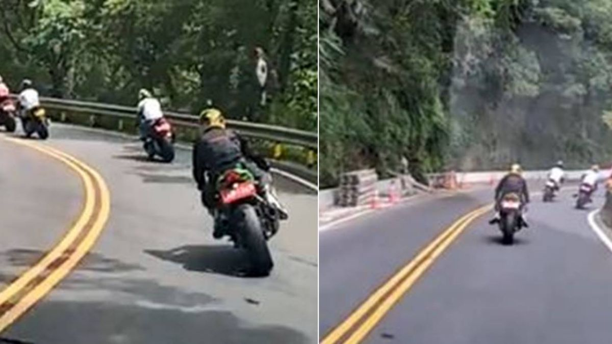 4重機北宜「母雞帶小雞」慢慢騎…見超威前導車 網笑:好溫馨