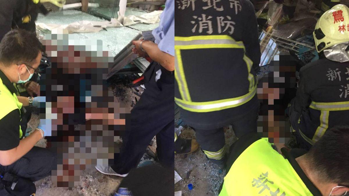 快訊/蘆洲工人搬運玻璃不慎倒地 慘遭重壓爆血