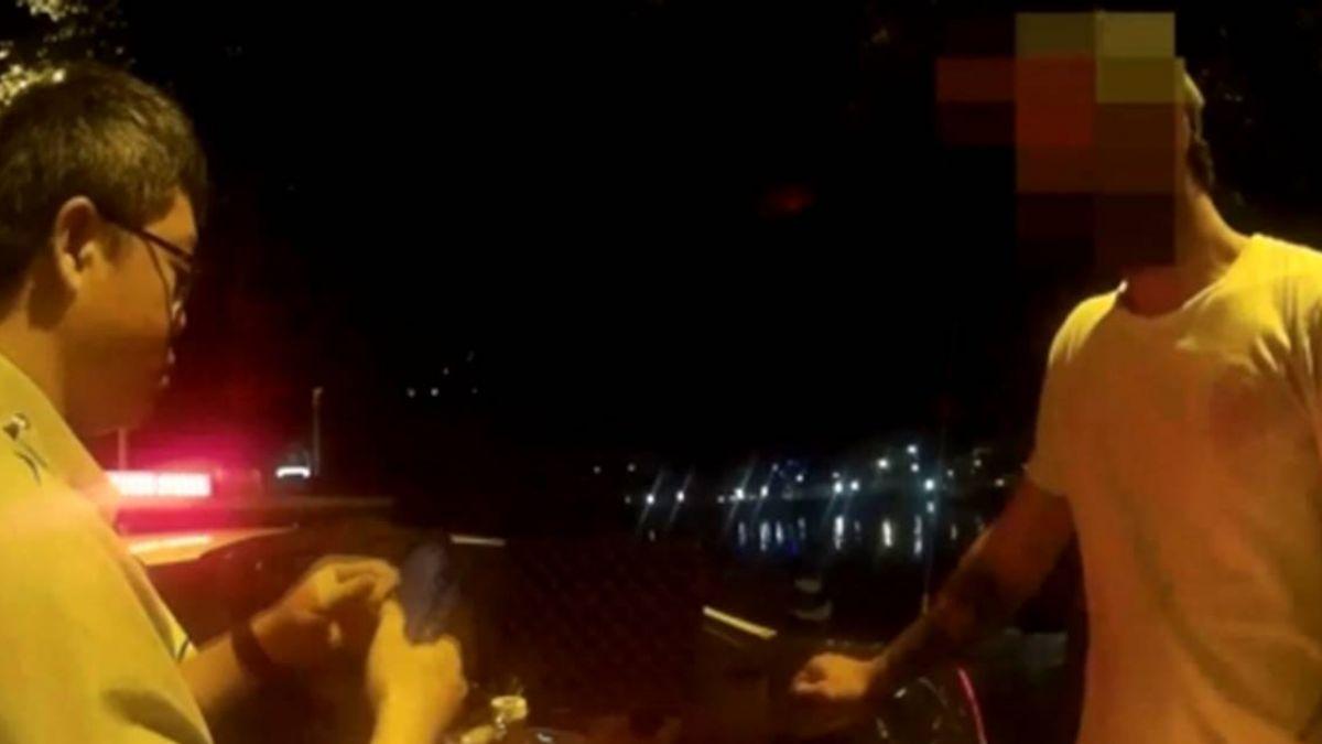 警攔查煞車燈沒亮 意外揪酒駕老外