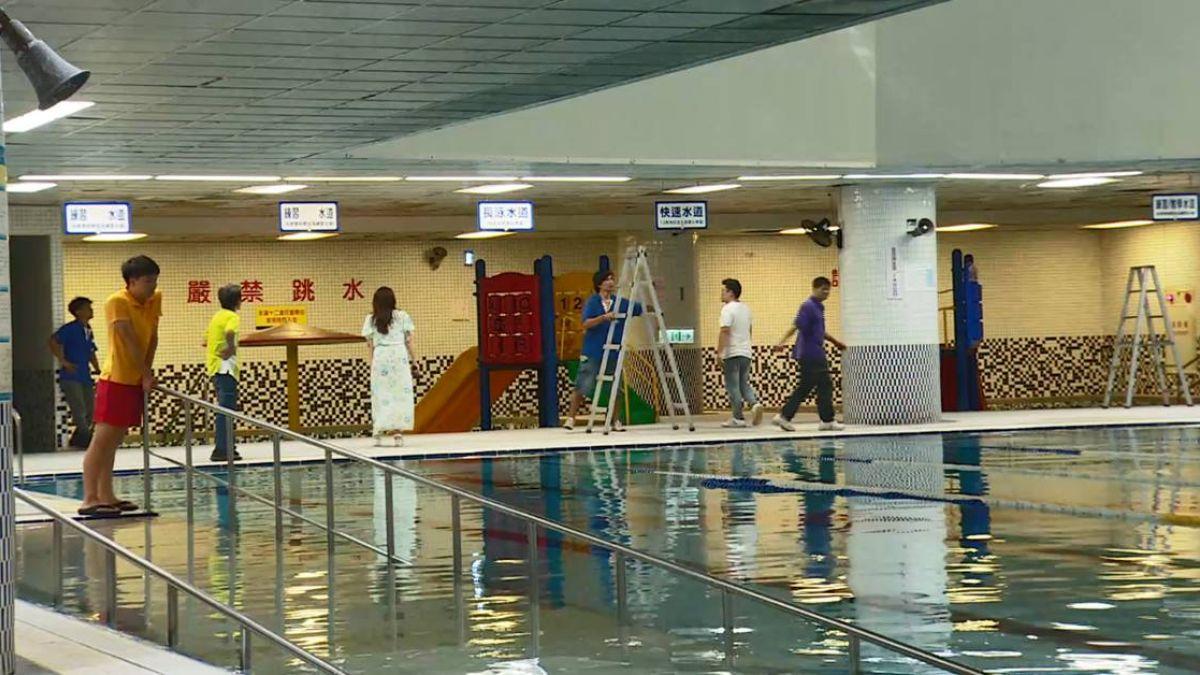 南港運動中心泳池塌 全面體檢輕鋼架天花板