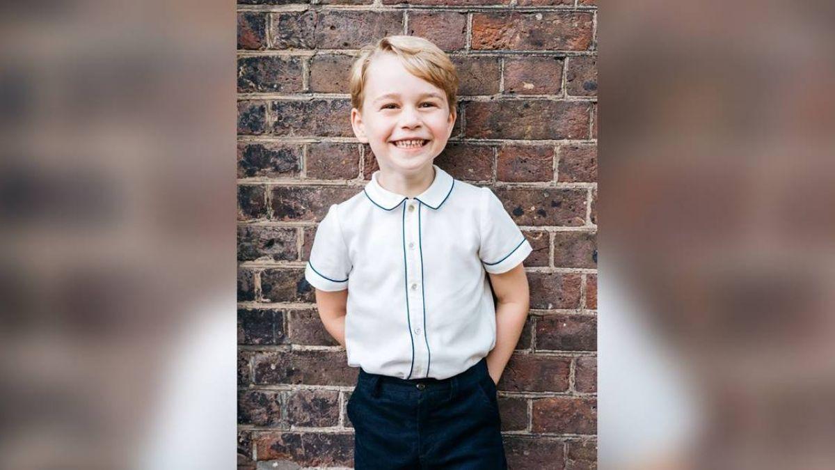 喬治王子5歲了!英國王室曝新萌照 網友都融化