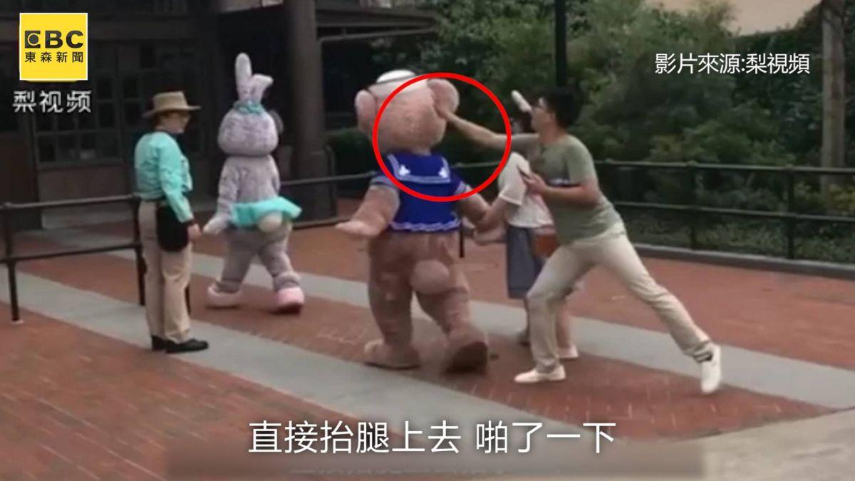 迪士尼小熊慘被巴頭 花栗鼠蒂蒂被打腦震盪住院