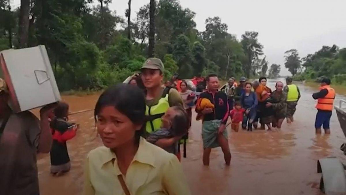 寮國水壩潰堤已知19死 數百人失蹤