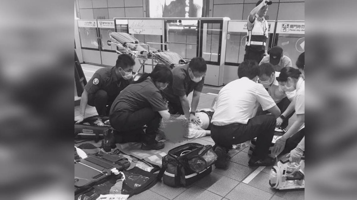 捷運瞥見老翁「雙眼上吊」!北榮護理師機警神救援