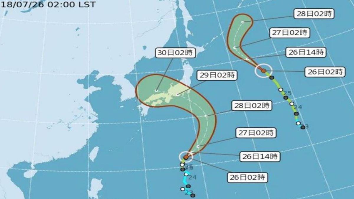 炎熱留意午後雷陣雨 雲雀颱風估週末影響日本