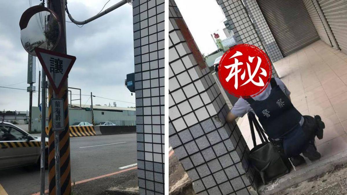 新竹這路段注意!女警躲路邊架測速照相機 網歪樓:求正面照