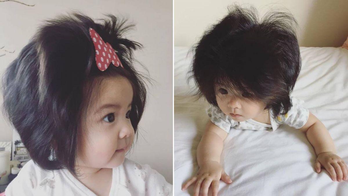 小獅子是你?超萌7月大「爆毛寶寶」變網紅 粉絲:好瘋狂的頭髮