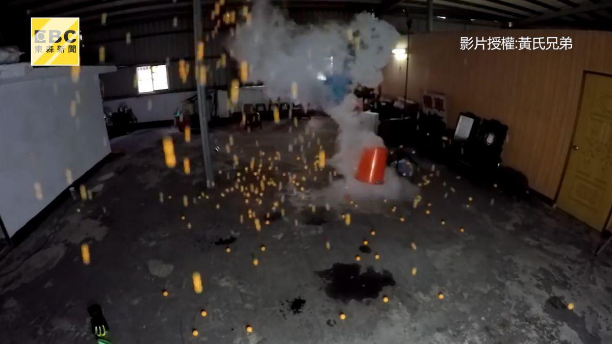 太壯觀!液態氮炸彈威力超驚人 500顆乒乓球爆開如雨
