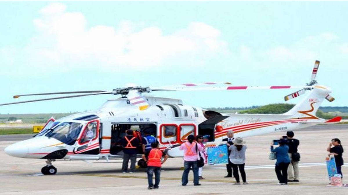 緊急醫療後送直升機  飛抵澎湖進駐
