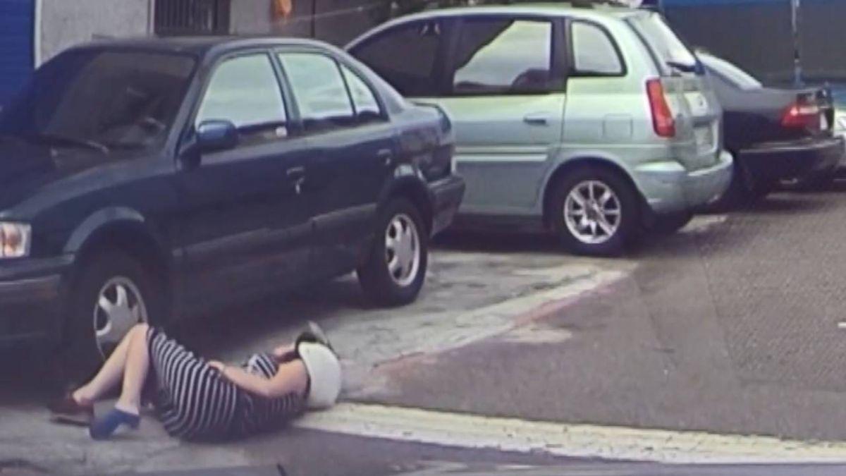 驚險瞬間!孕婦遭撞騰空翻滾摔 酒駕男竟找妻頂罪