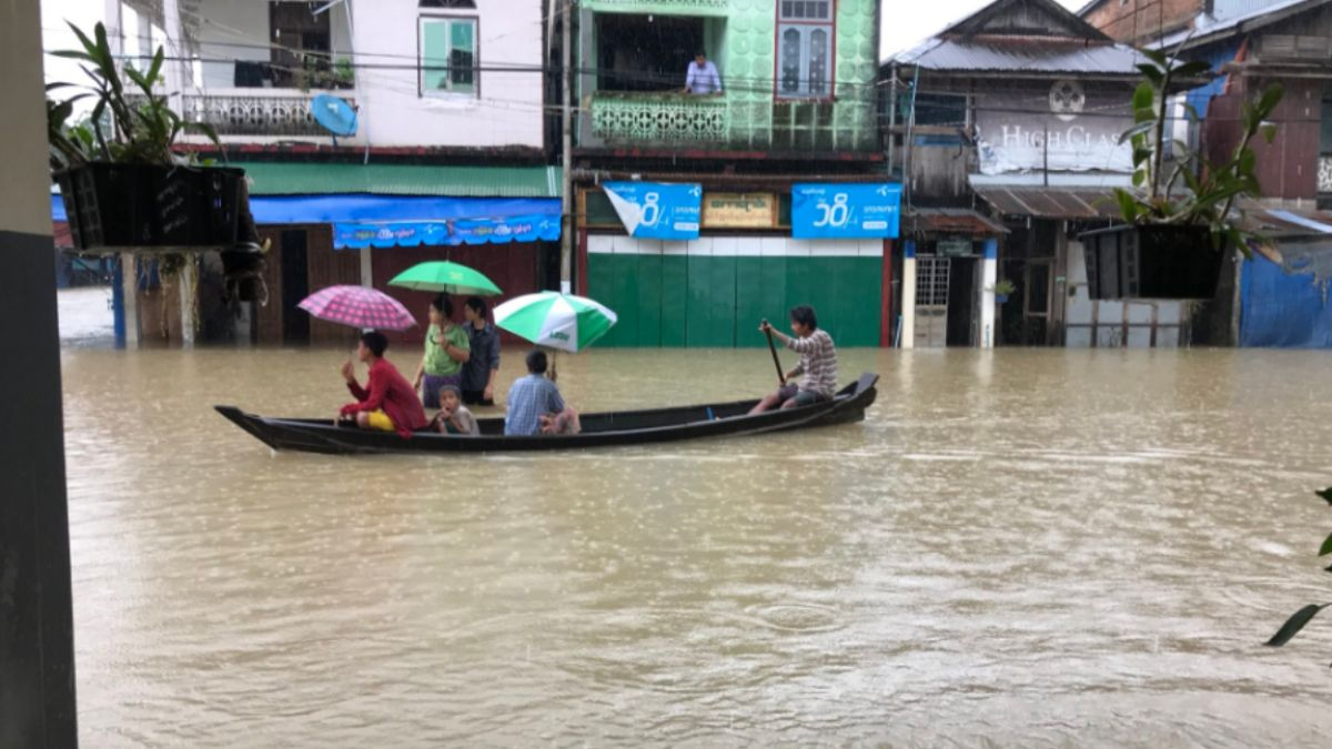 緬甸洪災恐引發潰堤  15萬人流離失所