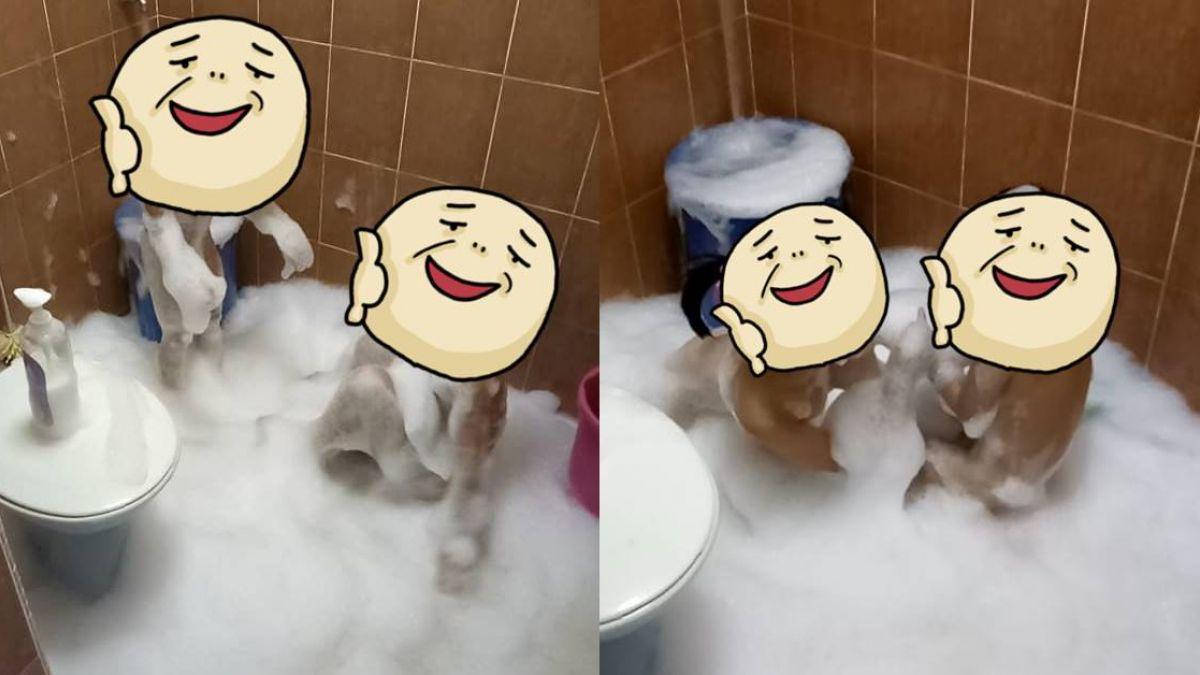 2小孩安靜洗澡!媽媽嚇到崩潰求救:要怎樣可以處理掉他們?