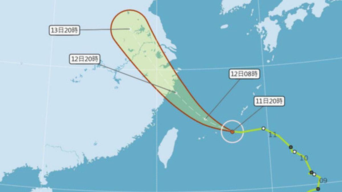 「摩羯」颱風通過北部海域! 下周全台變天慎防大雨