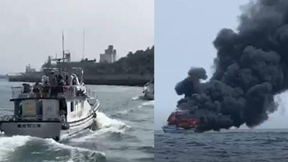 賞鯨驚魂!46人花蓮開心出海 船隻半途竟起火燃燒